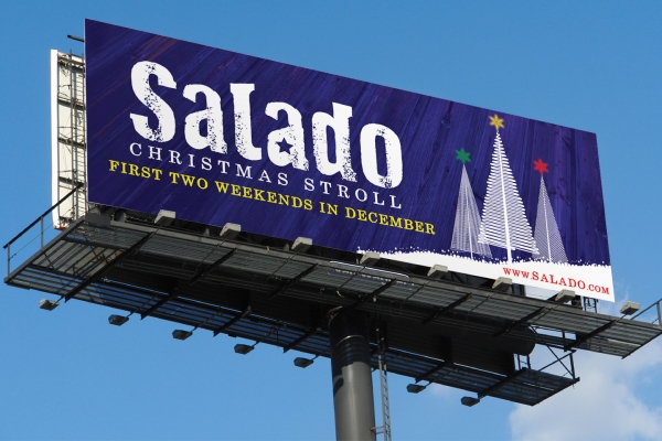 outdoor billboard design Salado Christmas