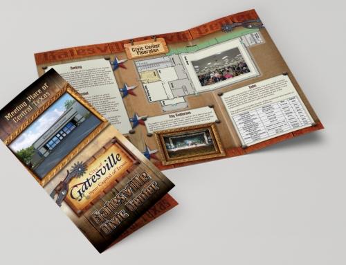 Brochure Design – Tri-fold – Gatesville Civic Center