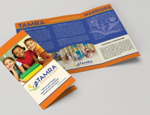 Brochure Design – Tri-fold-TAMRA Learning Academy